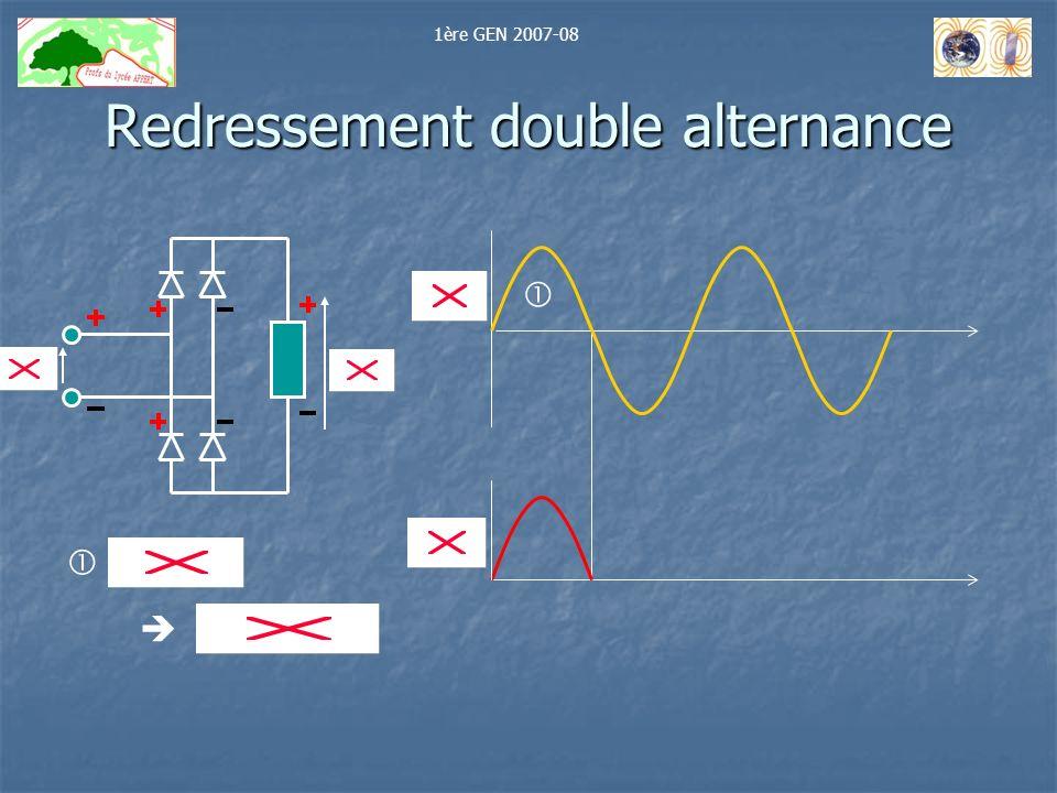 Redressement double alternance 1ère GEN 2007-08