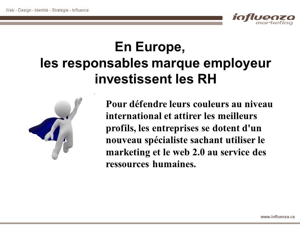 Web - Design - Identité - Stratégie - Influence www.influenza.ca En Europe, les responsables marque employeur investissent les RH Pour défendre leurs