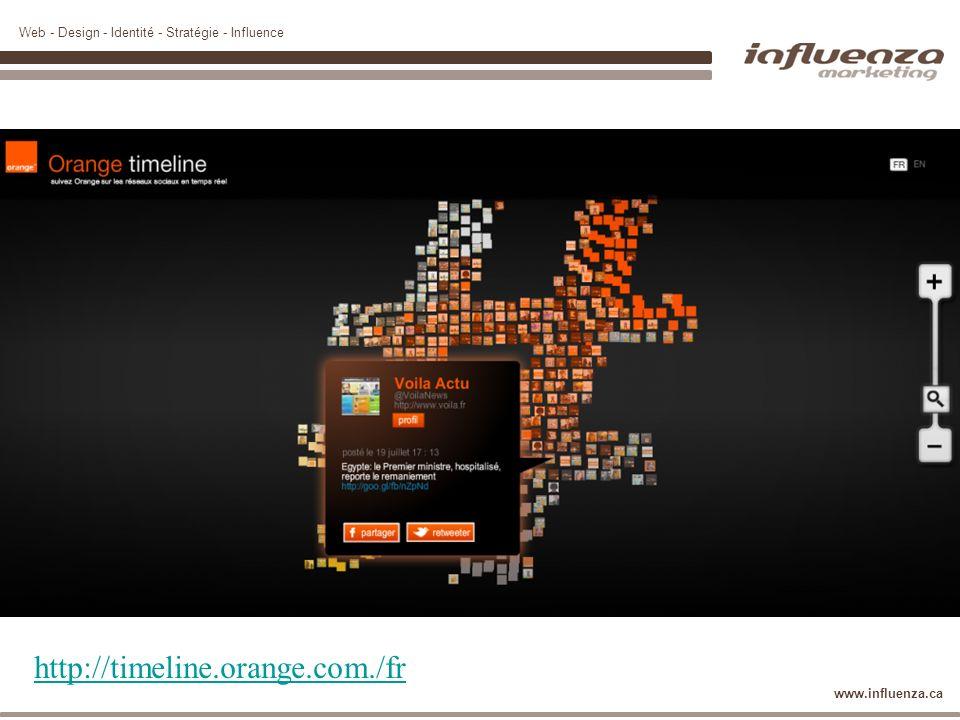 Web - Design - Identité - Stratégie - Influence www.influenza.ca http://timeline.orange.com./fr