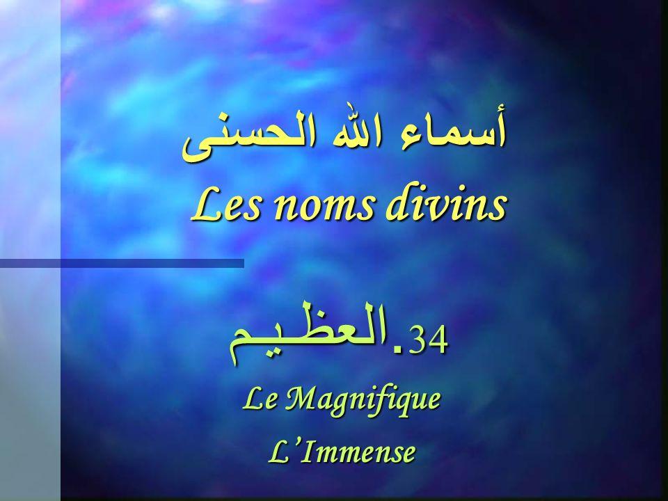 أسماء الله الحسنى Les noms divins 33. الـحـلـيـم Le Longanime