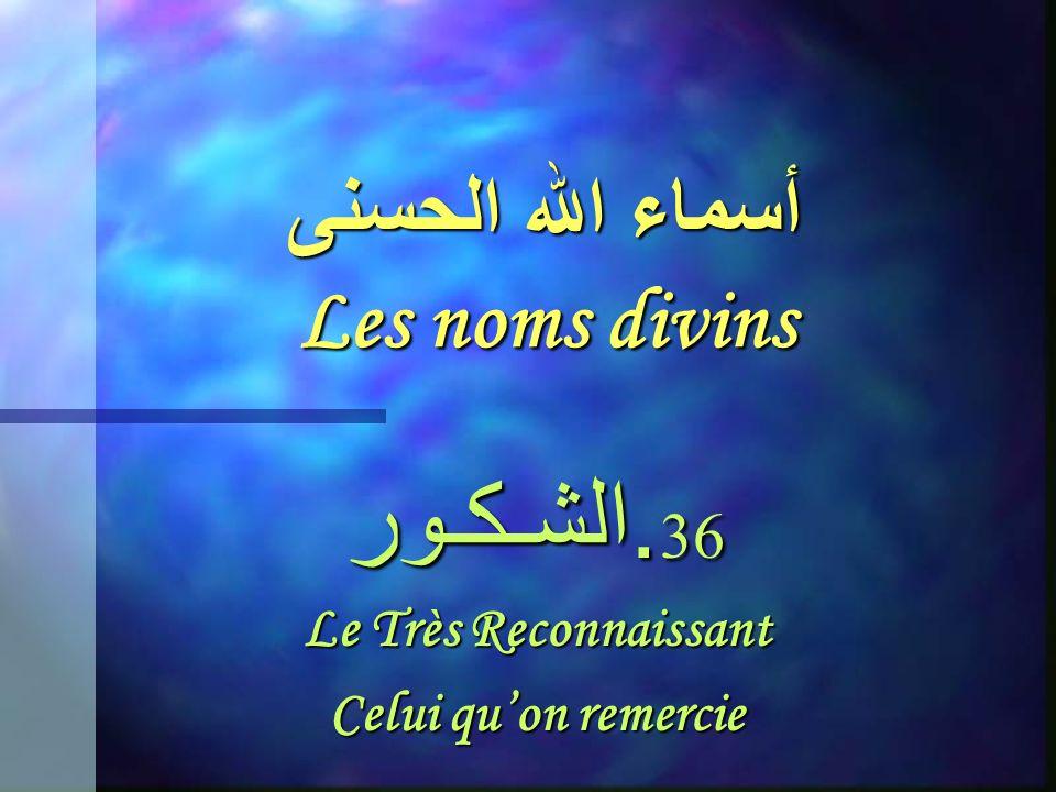 أسماء الله الحسنى Les noms divins 35. الغـفـور Le Tout-Pardonnant