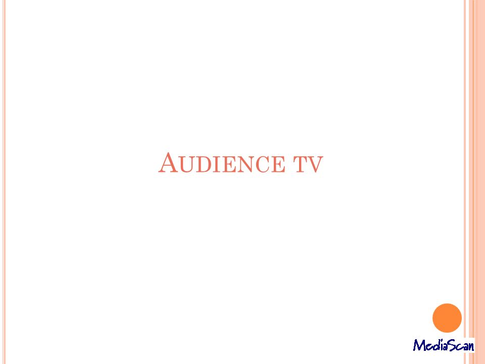 A UDIENCE TV