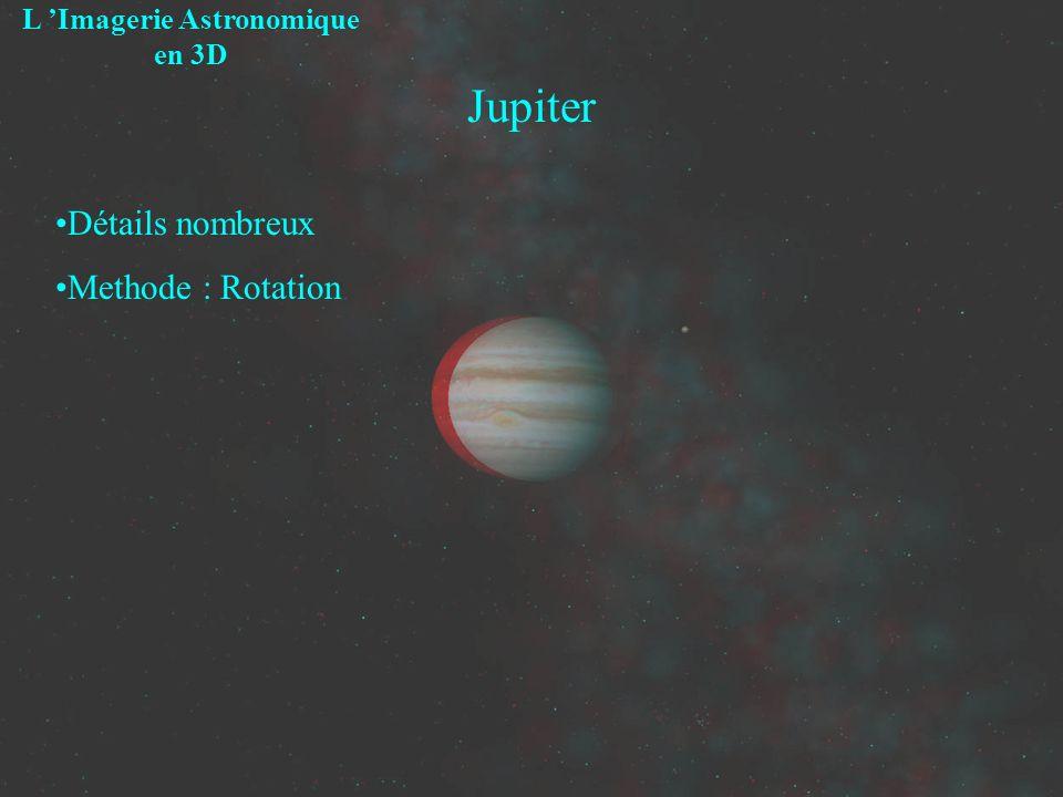 Jupiter L Imagerie Astronomique en 3D Détails nombreux Methode : Rotation