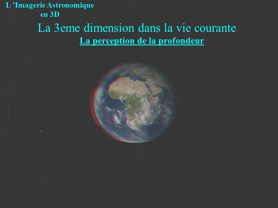 La 3eme dimension dans la vie courante La perception de la profondeur L Imagerie Astronomique en 3D Repose sur des « Indicateurs »