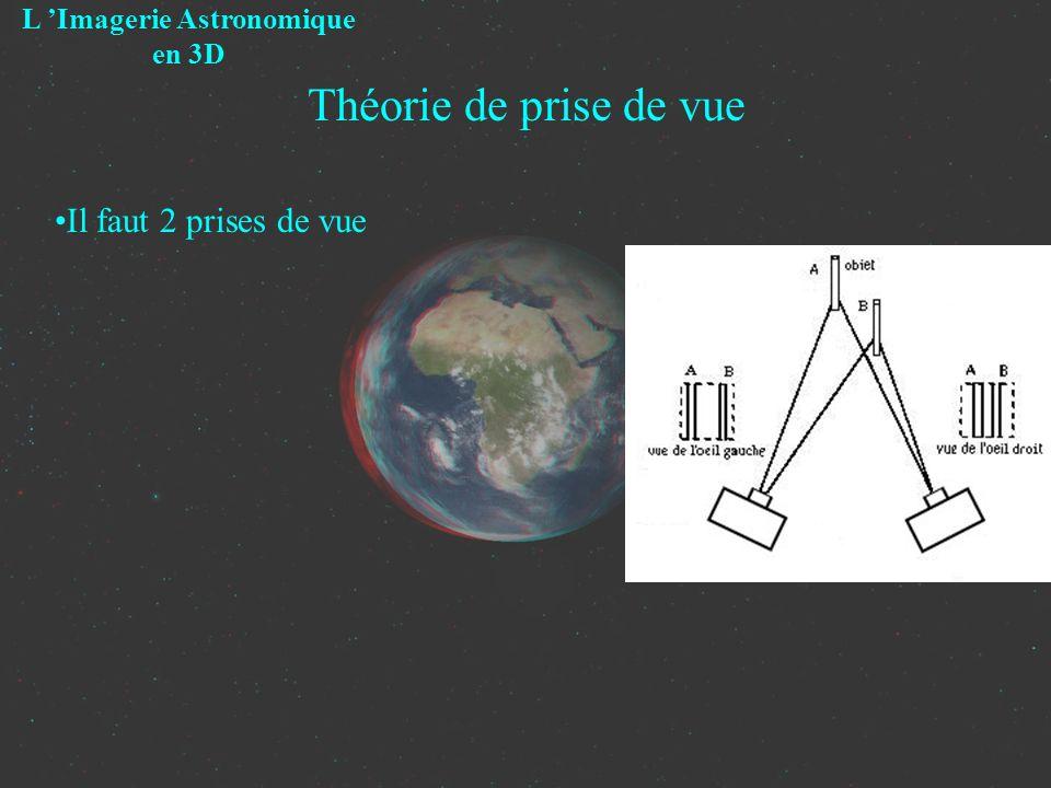 Théorie de prise de vue Il faut 2 prises de vue L Imagerie Astronomique en 3D