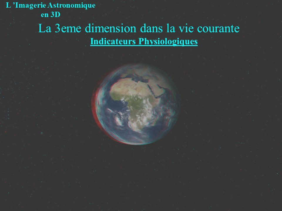 La 3eme dimension dans la vie courante Indicateurs Physiologiques L Imagerie Astronomique en 3D L accomodation - ajustement de la longueur focale du cristallin