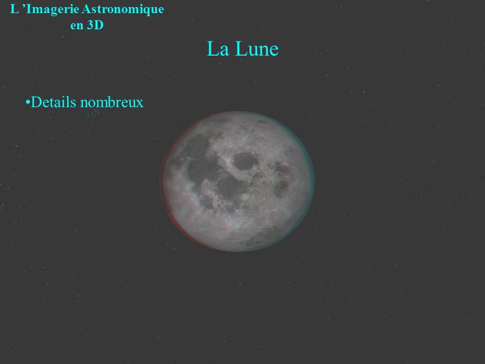 La Lune L Imagerie Astronomique en 3D Details nombreux