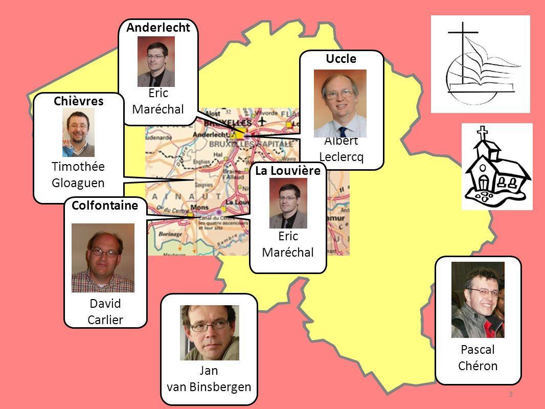 Anderlecht Pasteur Eric Maréchal 160 membres Les églises