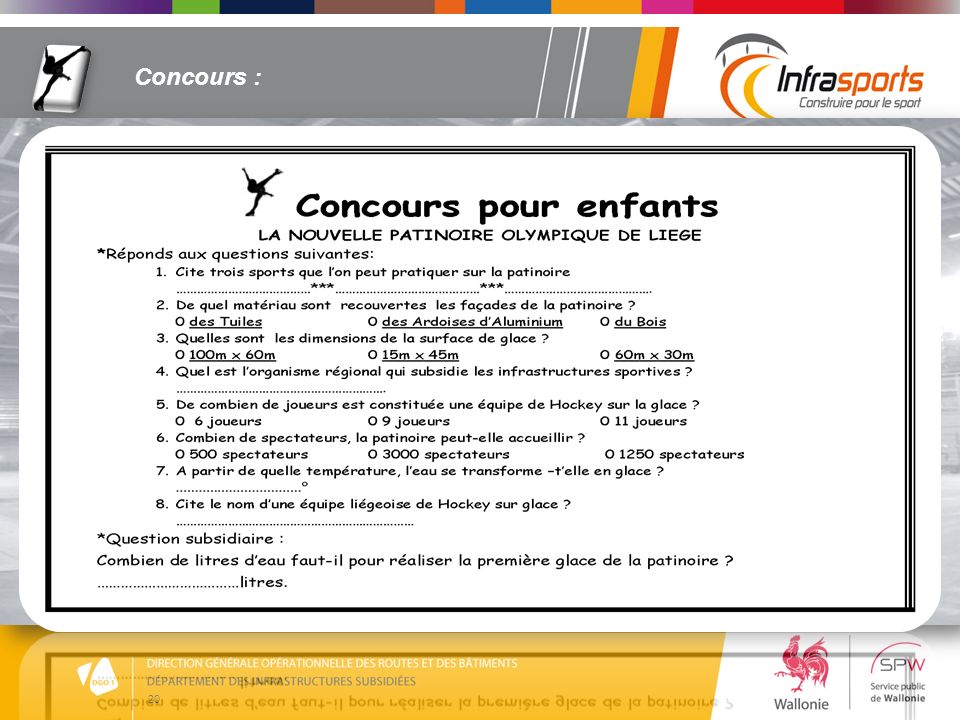 20 Concours :