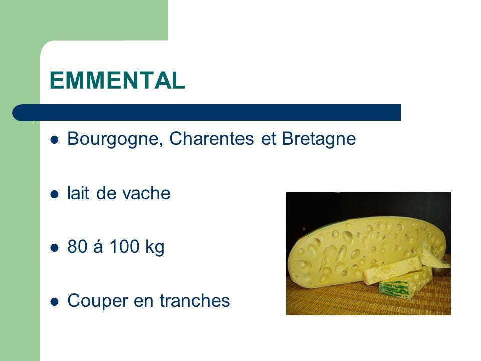 EMMENTAL Bourgogne, Charentes et Bretagne lait de vache 80 á 100 kg Couper en tranches
