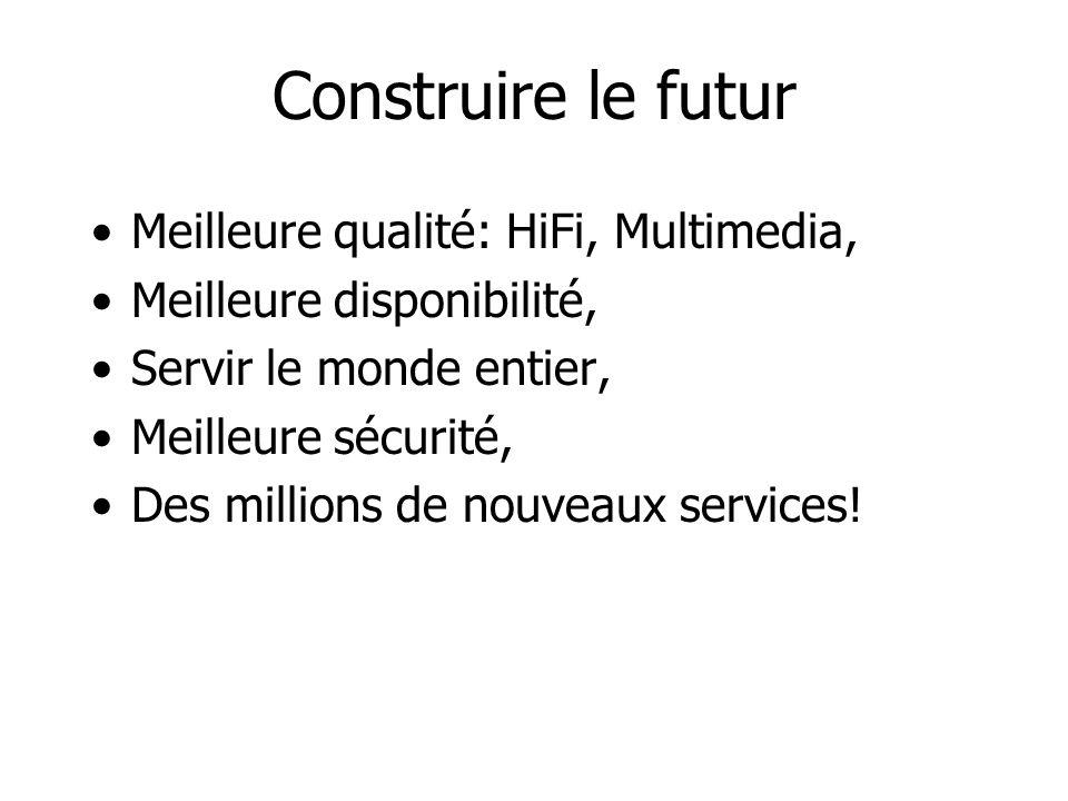 Construire le futur Meilleure qualité: HiFi, Multimedia, Meilleure disponibilité, Servir le monde entier, Meilleure sécurité, Des millions de nouveaux