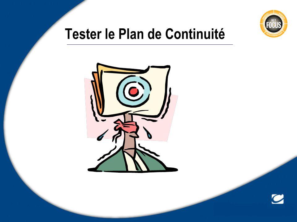 Tester le Plan de Continuité