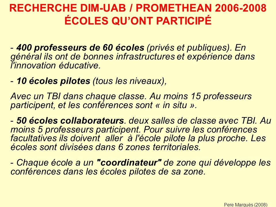 - Conférence d introduction de la formation technique et didactique aux professeurs, de sorte qu ils puissent intégrer le TBI dans leur enseignement.