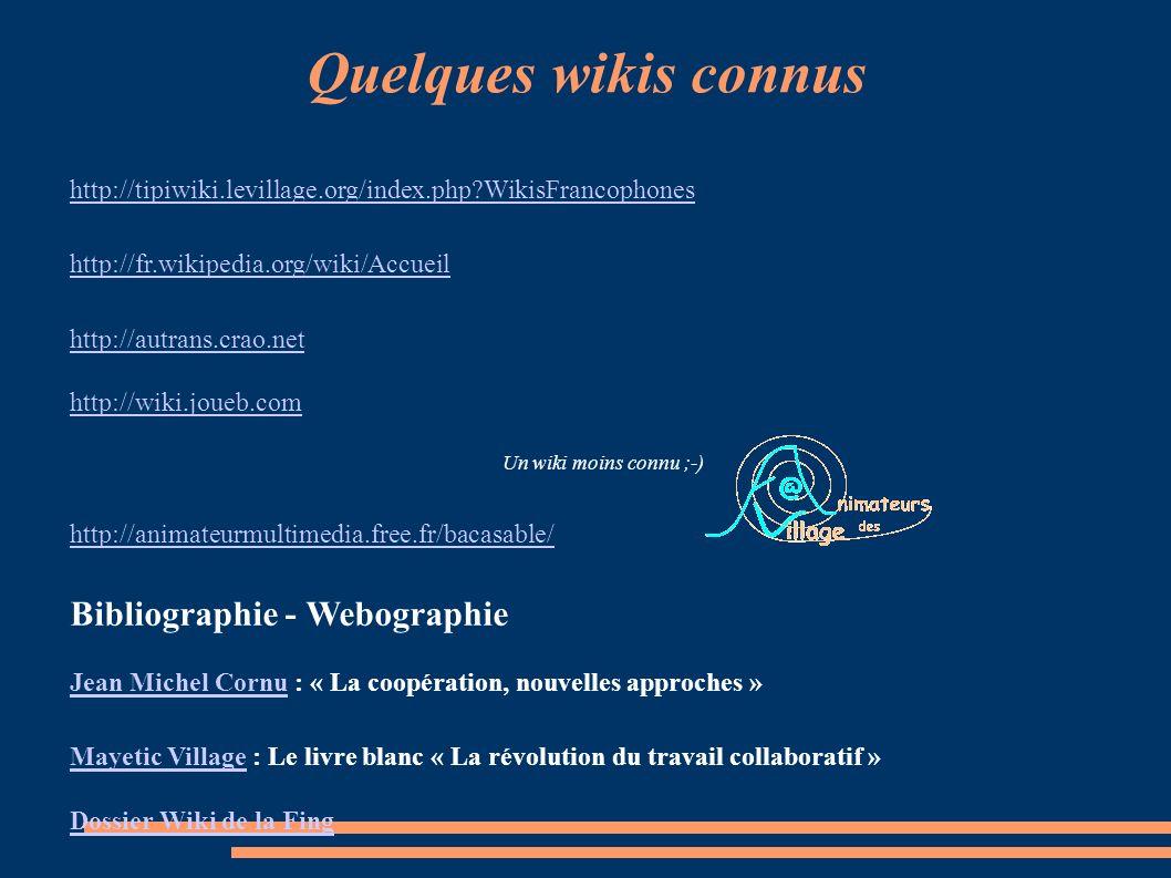 Le wiki et ses usages Voici les premiers usages repérés, existants ou potentiels, permettant la rédaction collaborative de documents :. Programme de f