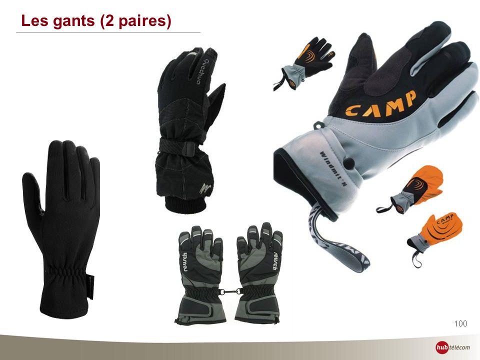 100 Les gants (2 paires)