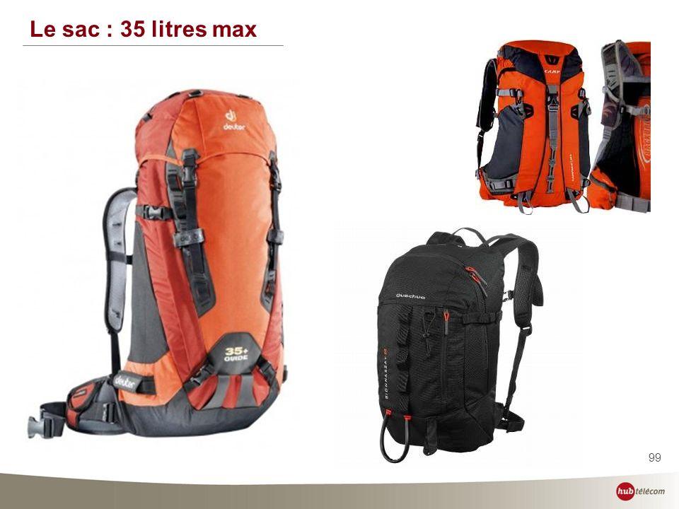 99 Le sac : 35 litres max