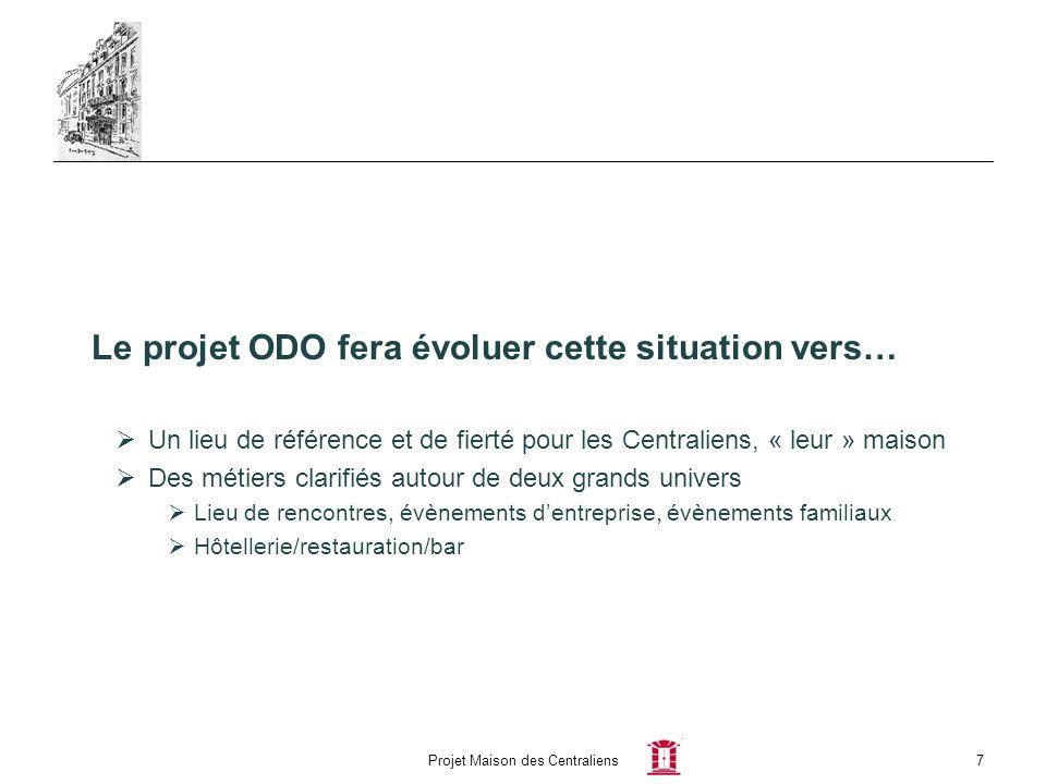 Projet Maison des Centraliens7 Le projet ODO fera évoluer cette situation vers… Un lieu de référence et de fierté pour les Centraliens, « leur » maiso