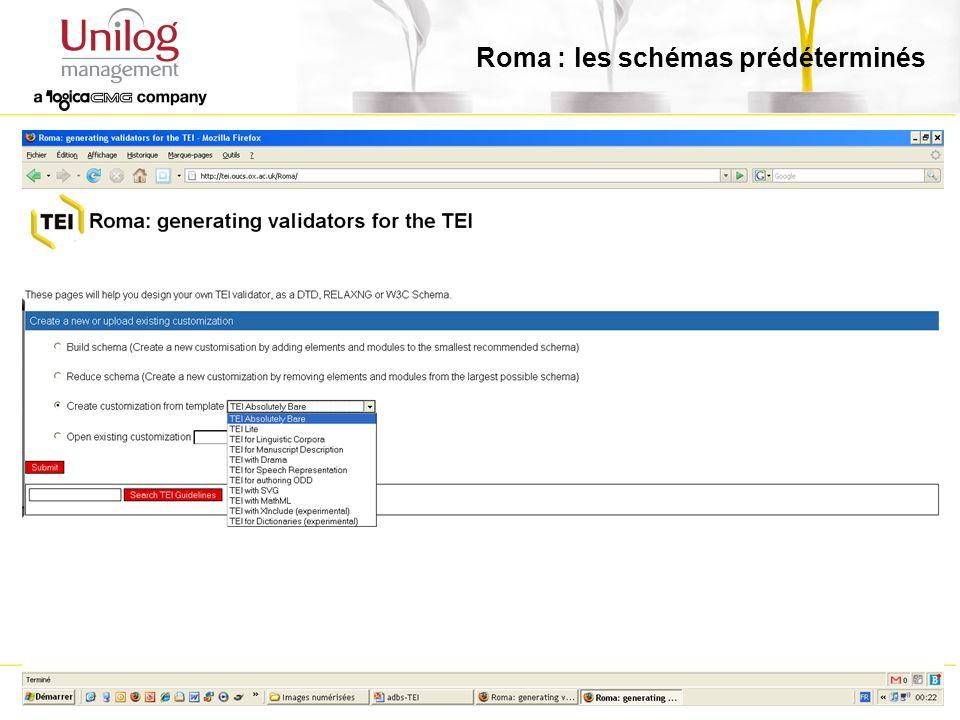 24/01/200822 Roma : les schémas prédéterminés
