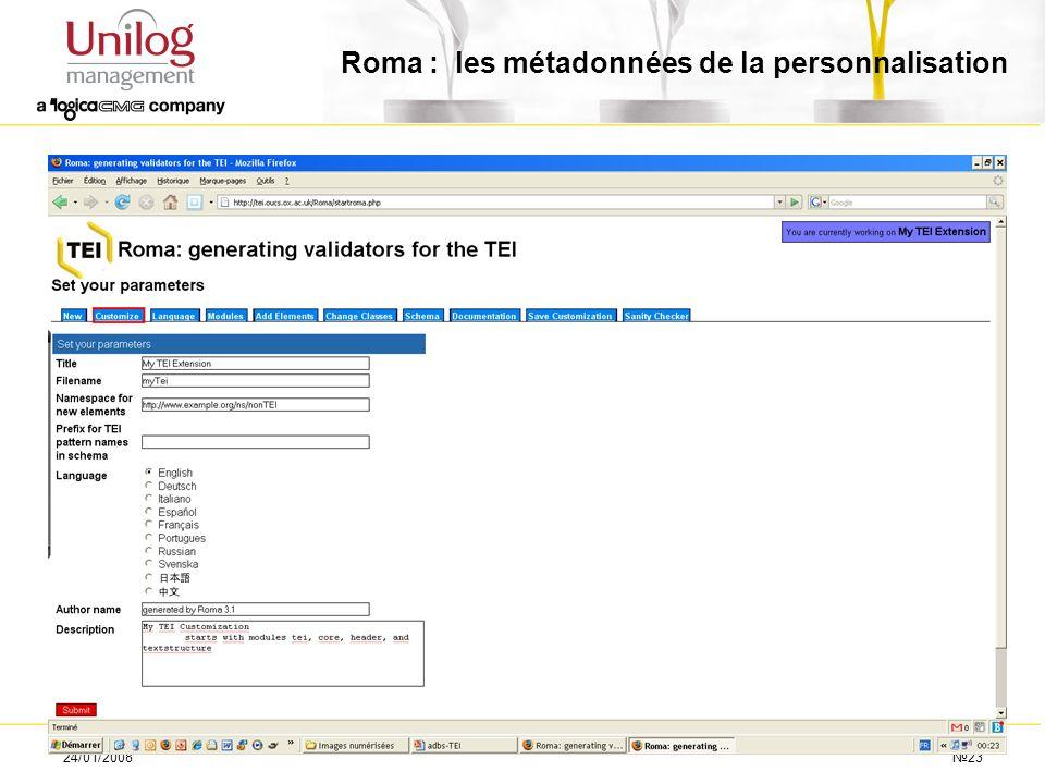 24/01/200823 Roma : les métadonnées de la personnalisation