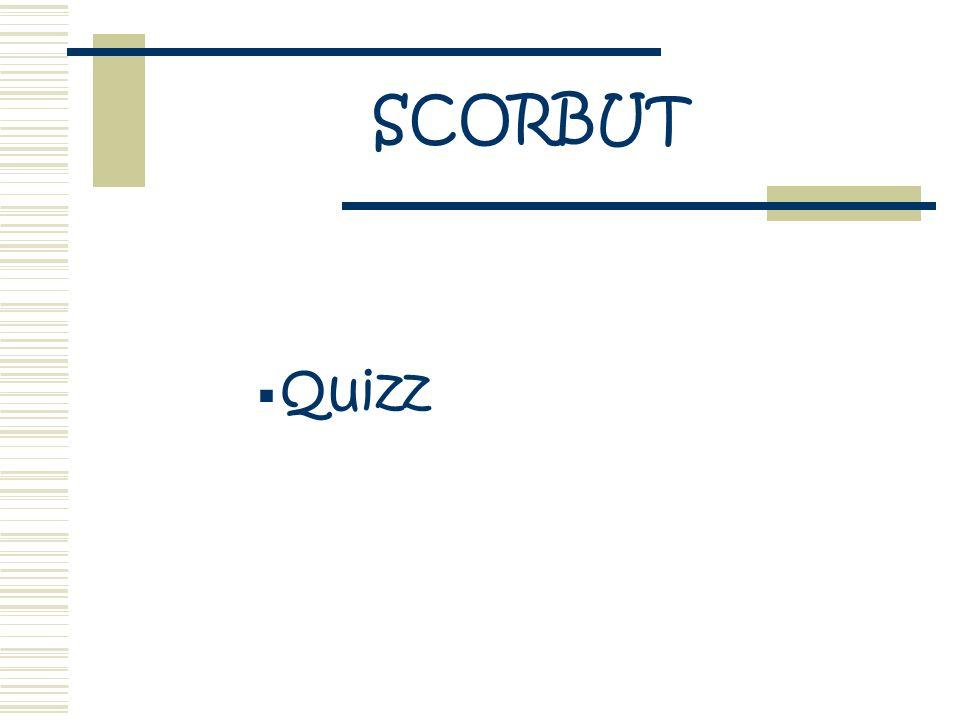 SCORBUT Quizz