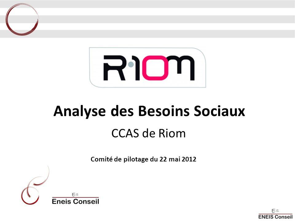 Analyse des Besoins Sociaux CCAS de Riom Comité de pilotage du 22 mai 2012