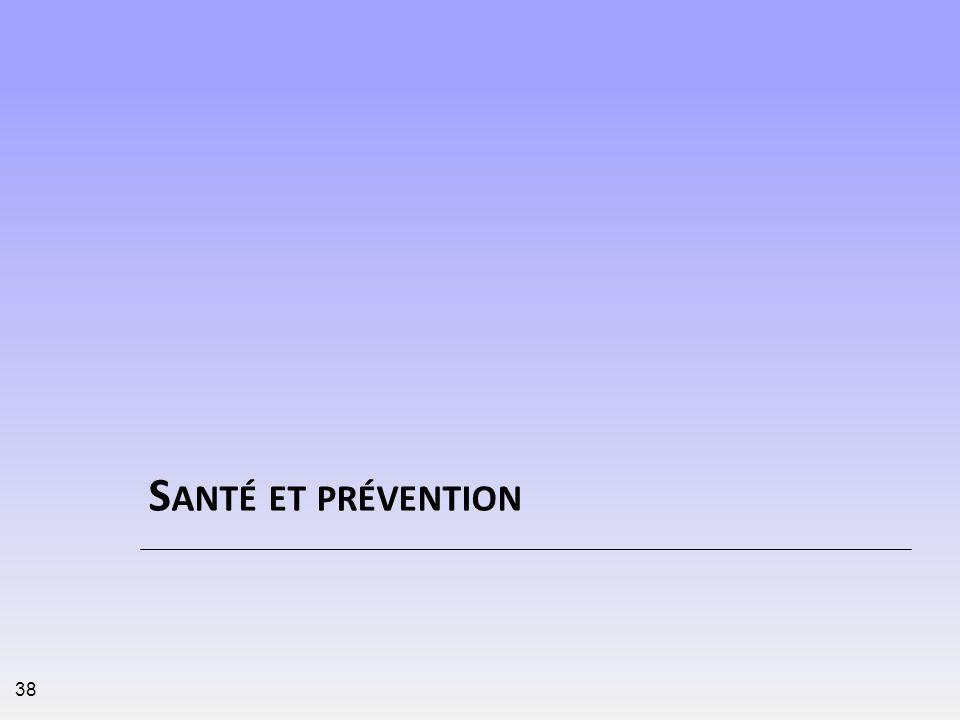 S ANTÉ ET PRÉVENTION 38