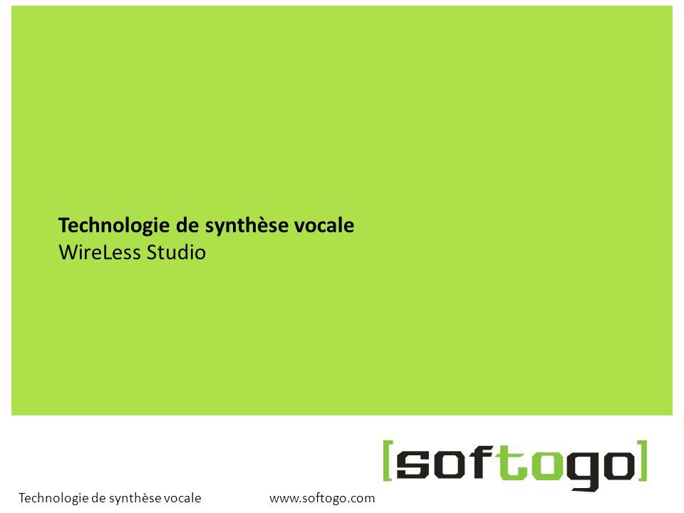 www.softogo.com Technologie de synthèse vocale Informations utiles www.softogo.com Contact: Sebastián Bernini sales@softogo.com SofToGo S.A.