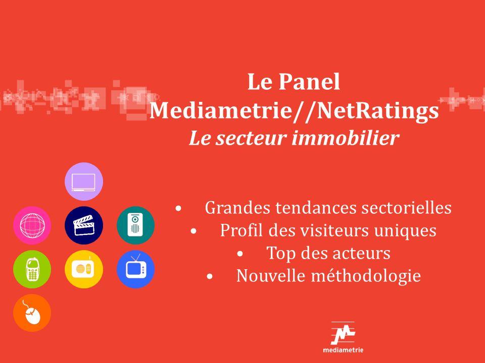 Le Panel Mediametrie//NetRatings Le secteur immobilier Grandes tendances sectorielles Profil des visiteurs uniques Top des acteurs Nouvelle méthodolog