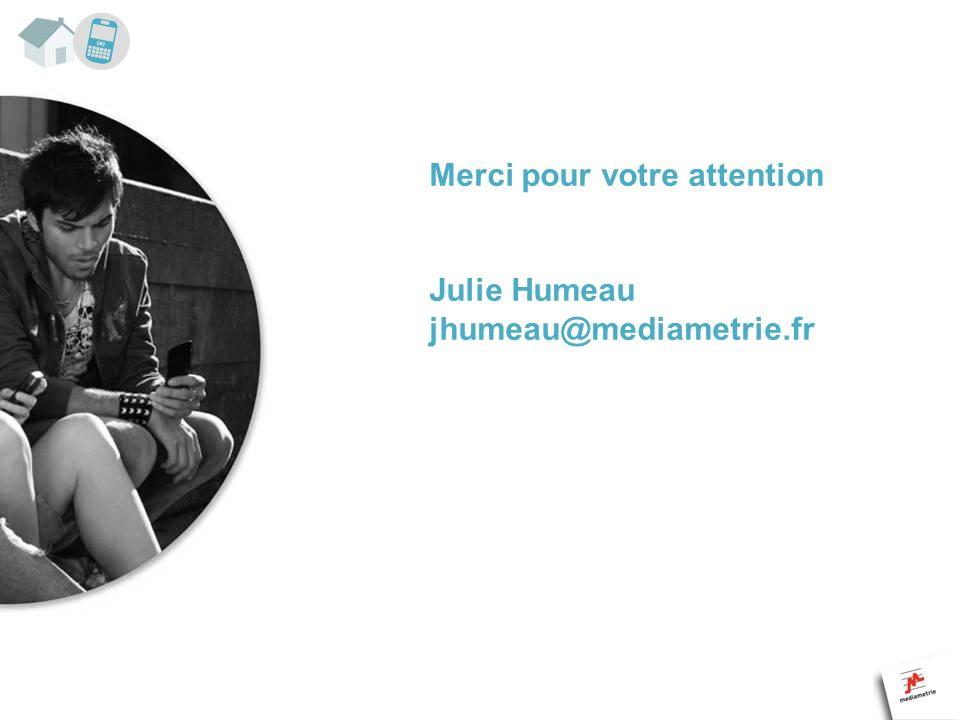 Merci pour votre attention Julie Humeau jhumeau@mediametrie.fr