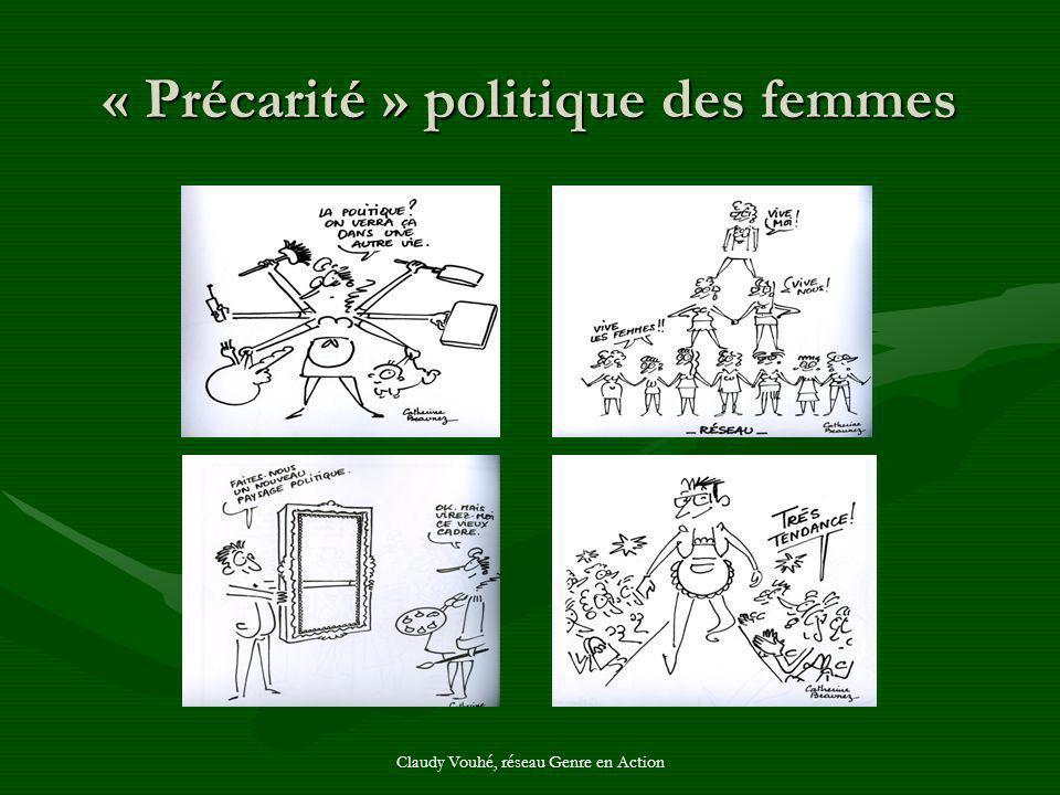 Claudy Vouhé, réseau Genre en Action « Précarité » politique des femmes