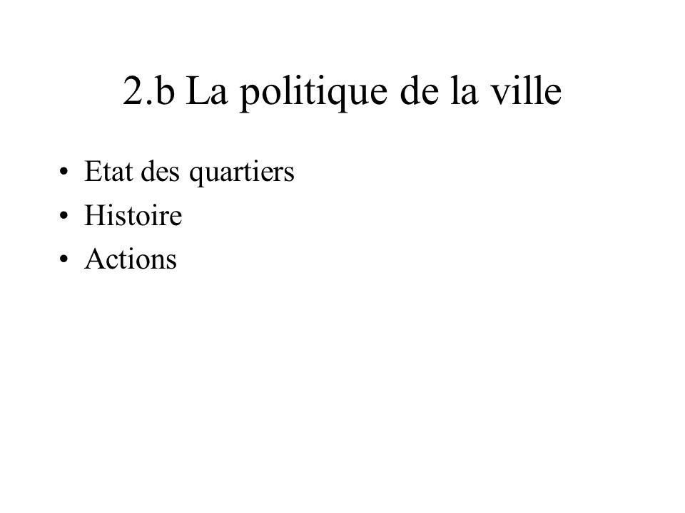 2.b La politique de la ville Etat des quartiers Histoire Actions