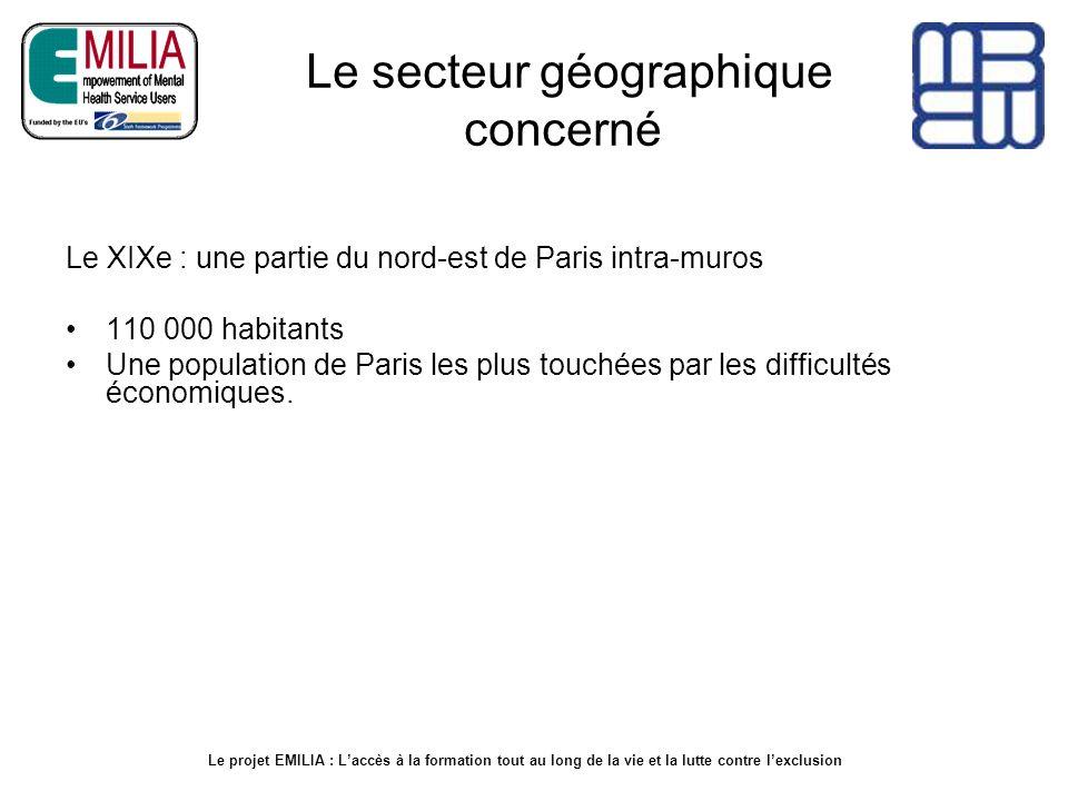 Le secteur géographique concerné Le XIXe : une partie du nord-est de Paris intra-muros 110 000 habitants Une population de Paris les plus touchées par