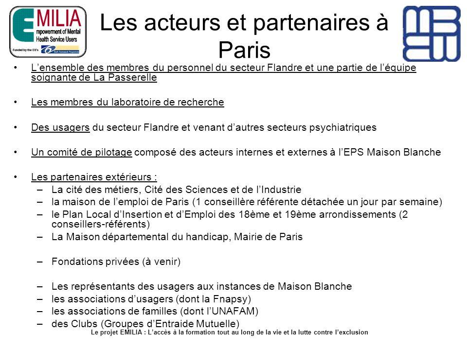 Les acteurs et partenaires à Paris Lensemble des membres du personnel du secteur Flandre et une partie de léquipe soignante de La Passerelle Les membr