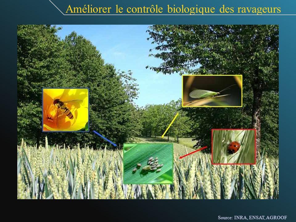 Améliorer le contrôle biologique des ravageurs Source: INRA, ENSAT, AGROOF
