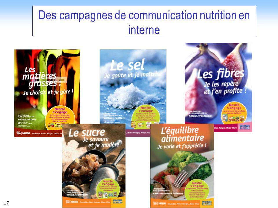 17 Des campagnes de communication nutrition en interne