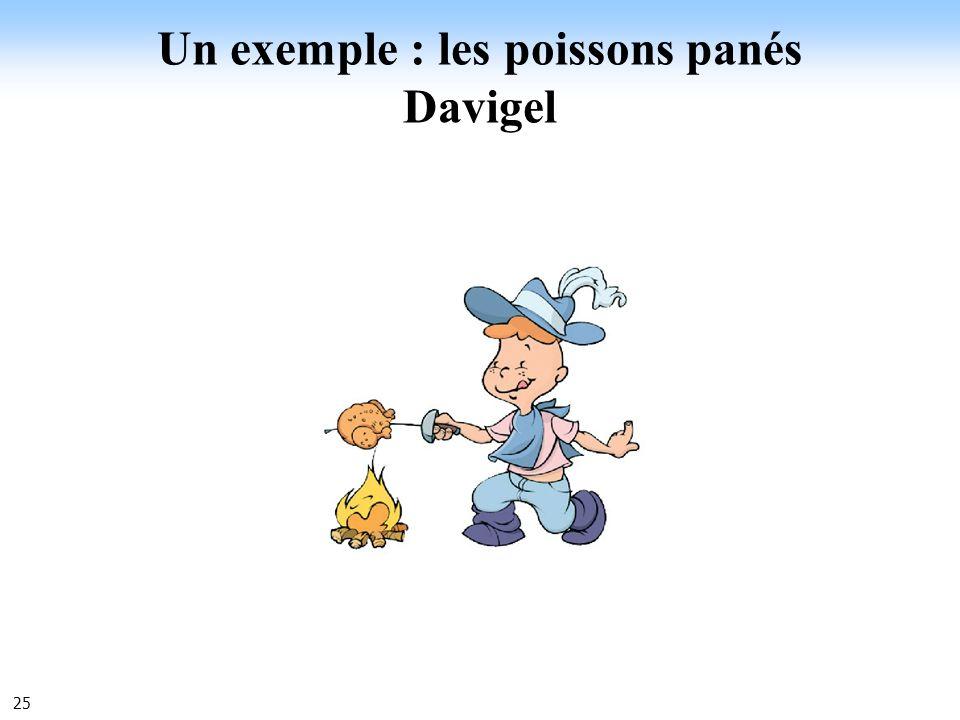25 Un exemple : les poissons panés Davigel