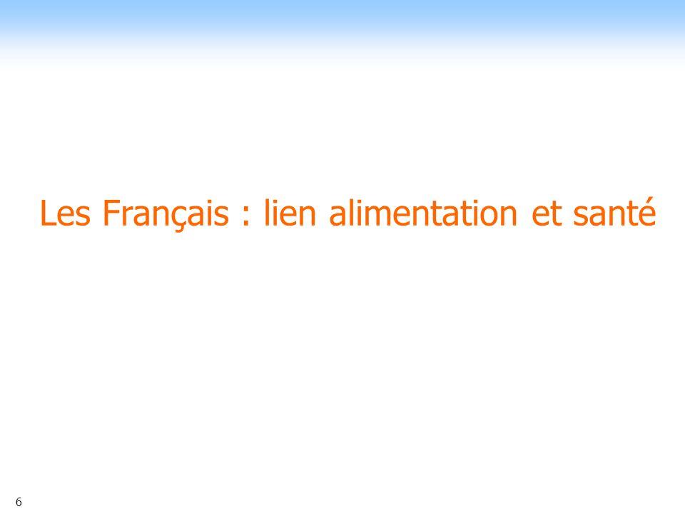 6 Les Français : lien alimentation et santé