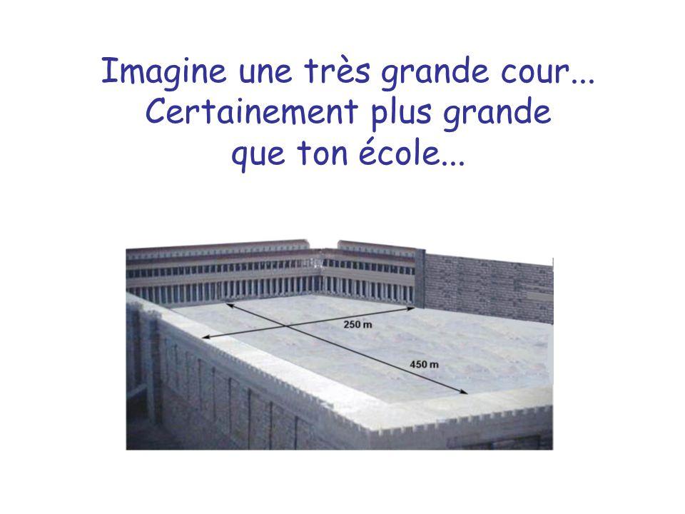 Imagine une très grande cour... Certainement plus grande que ton école...