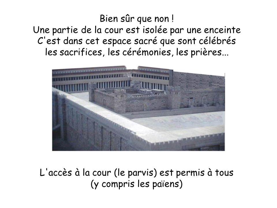 Au fond de l enceinte se trouve la partie la plus sacrée : un grand bâtiment où ne peuvent entrer que les prêtres