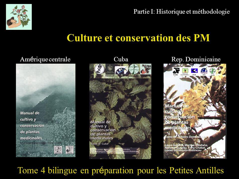 Partie I: Historique et méthodologie Culture et conservation des PM Tome 4 bilingue en pr é paration pour les Petites Antilles Am é rique centrale Cub