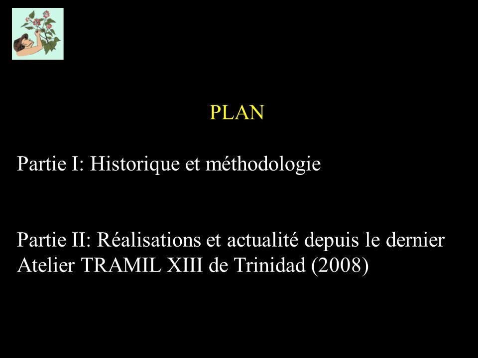 PLAN Partie I: Historique et méthodologie Partie II: Réalisations et actualité depuis le dernier Atelier TRAMIL XIII de Trinidad (2008)