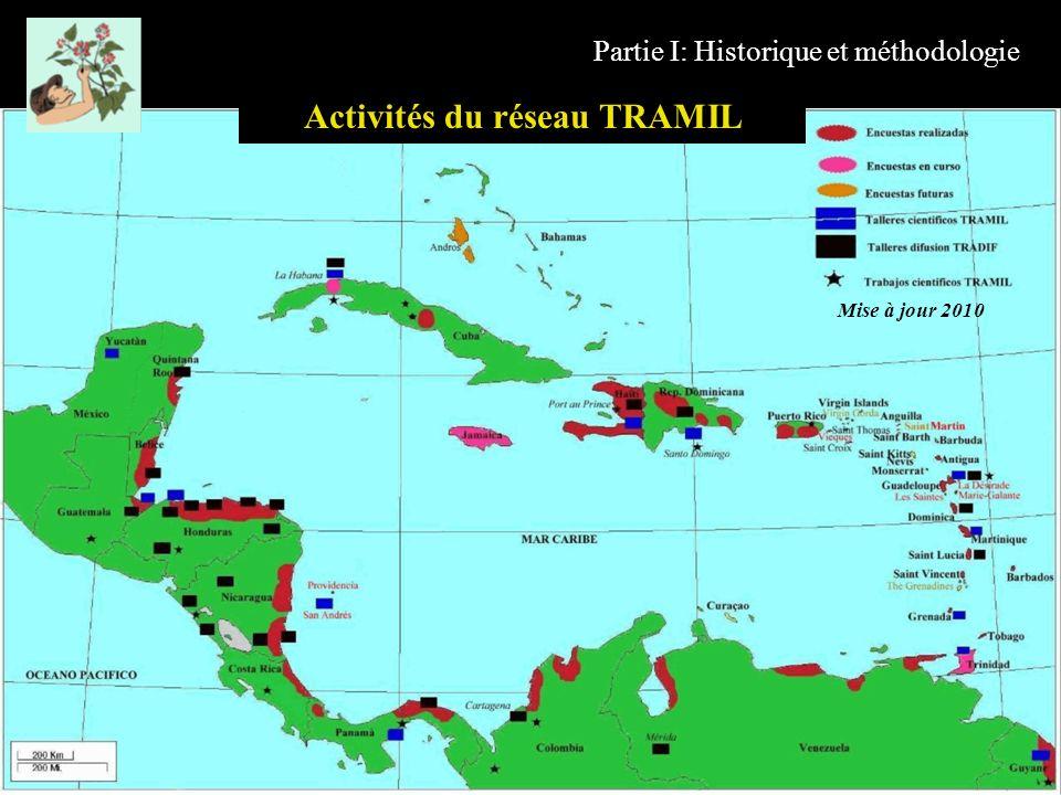 Partie I: Historique et méthodologie Activités du réseau TRAMIL Mise à jour 2010