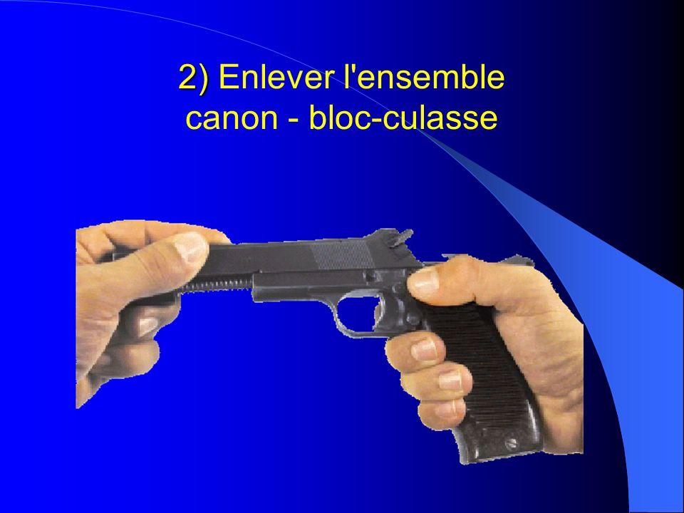 2) 2) Enlever l'ensemble canon - bloc-culasse