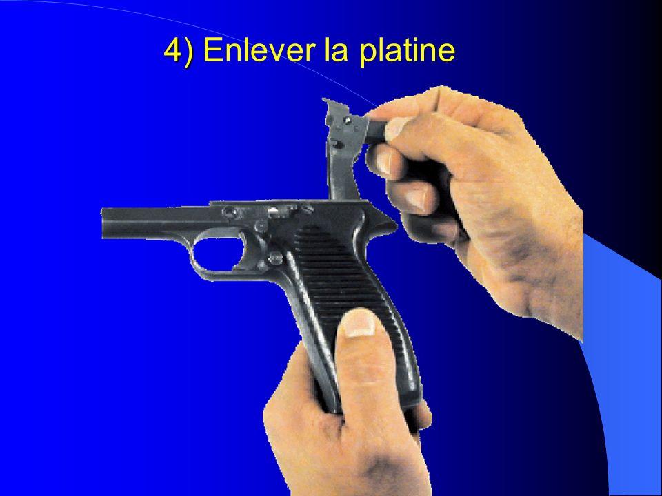 4) 4) Enlever la platine