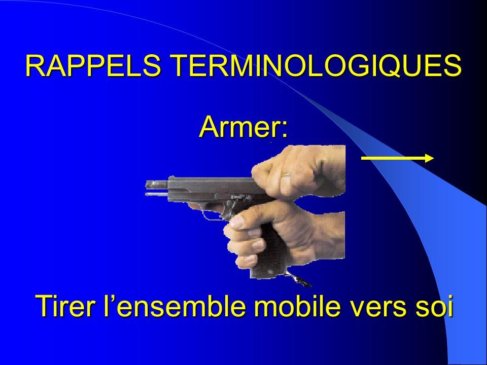 RAPPELS TERMINOLOGIQUES Armer: Tirer lensemble mobile vers soi