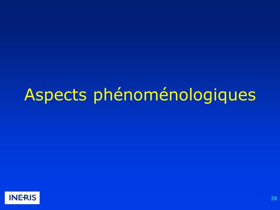 36 Aspects phénoménologiques