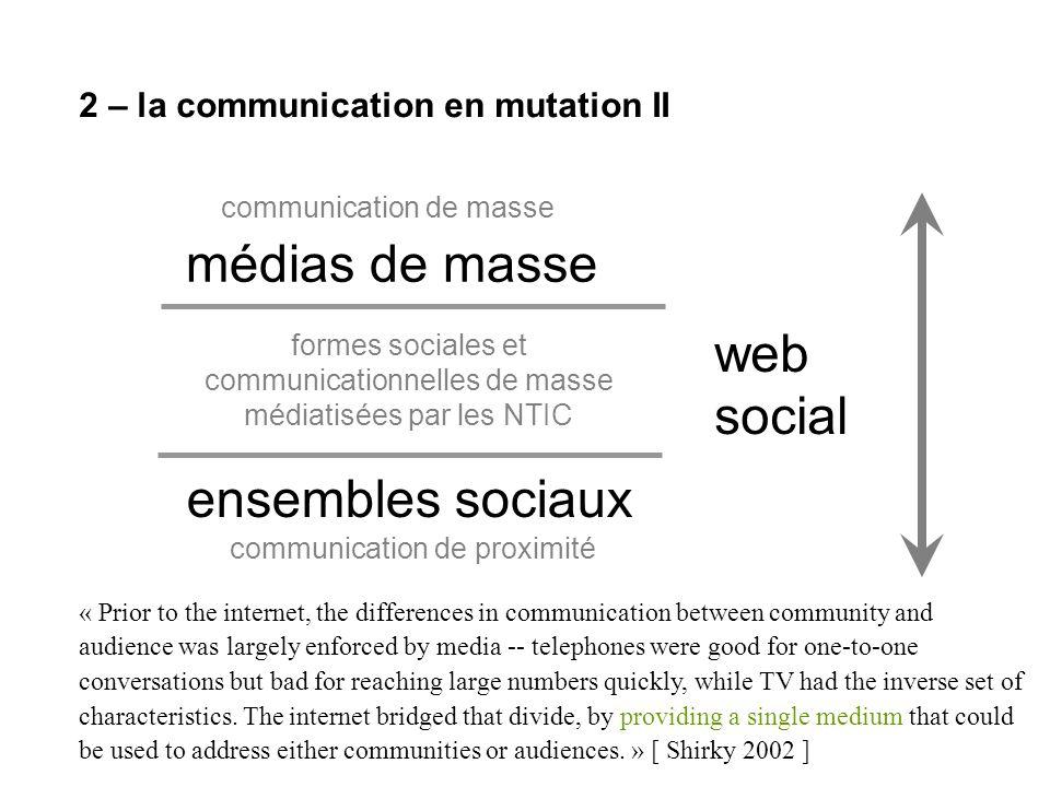 4 – une alliance information / communication II Létude empirique de ces objets demande de nouvelles approches méthodologiques.