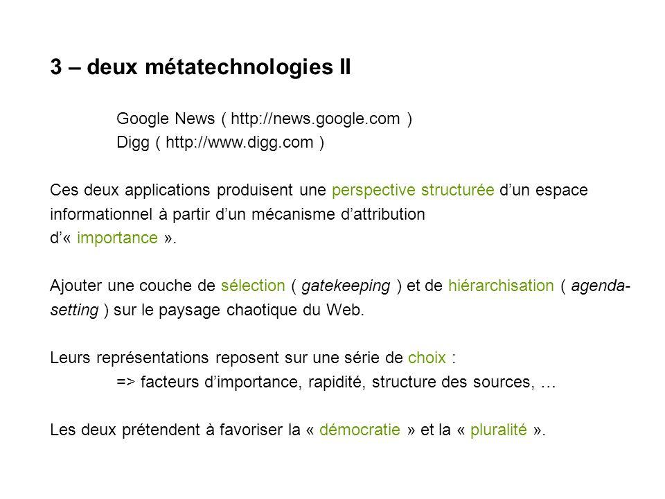 3 – SCREEN : google news front