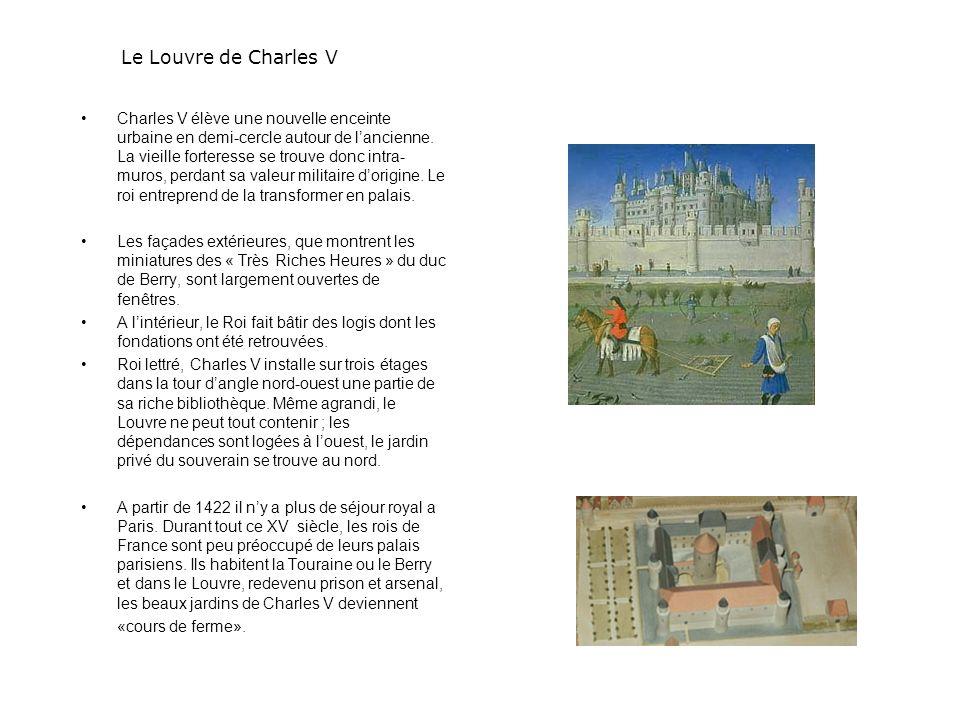 François 1er fait raser le donjon et confie à Pierre Lescot le soin de transformer le Louvre en Palais Renaissance.