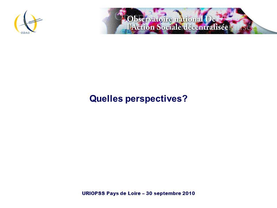 URIOPSS Pays de Loire – 30 septembre 2010 Quelles perspectives?